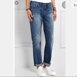 Madewell slim boyjeans distressed